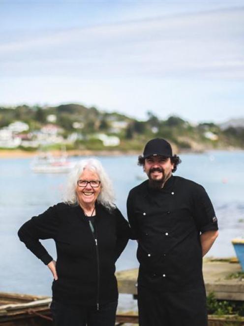 Fleur Sullivan and executive chef Paul McDougal stand outside her Moeraki restaurant Fleur's...