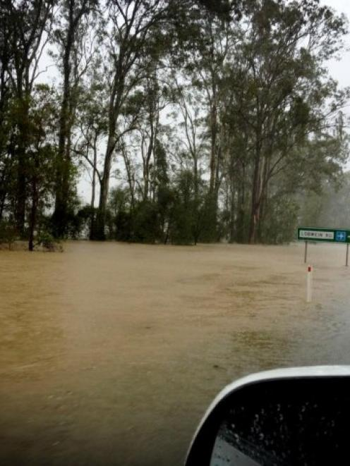 Flooding near Gympie in Queensland. Photo Twitter