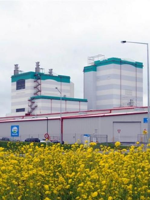Fonterra's Edendale site, which will undergo major expansion. Photo by Peter McIntosh.