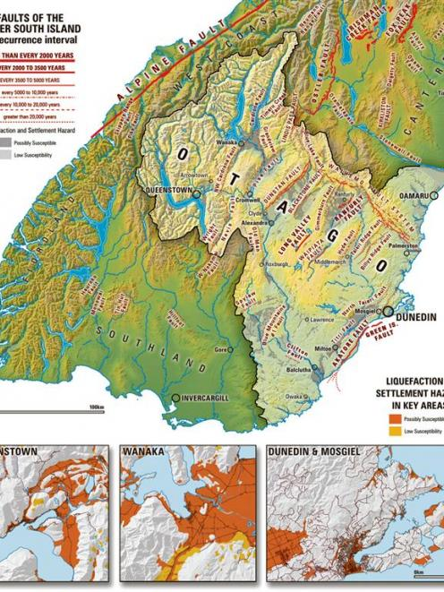 Map of liquefaction and settlement hazard. Graphic by Jeremy Gordon.