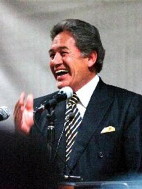 Foreign Minister Winston Peters starts on a lighter note during his opening address to the...