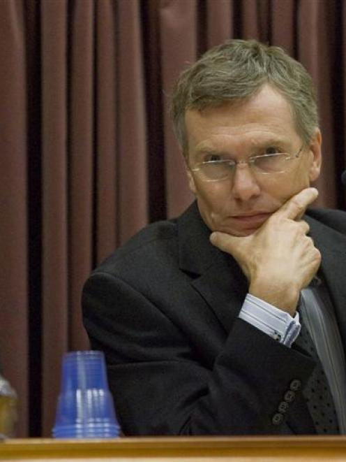 Forensic pathologist Dr Robert Chapman in the witness box yesterday during the murder retrial of...