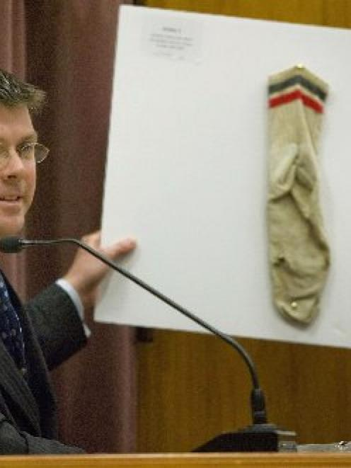 Forensic scientist John Manlove gives evidence in Christchurch yesterday.