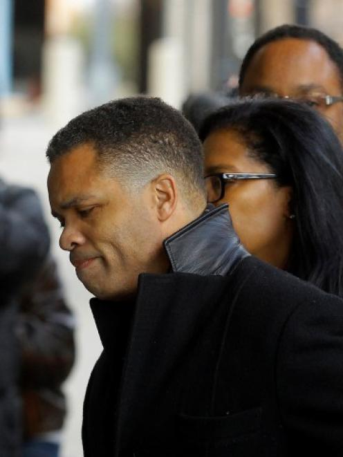 Former Chicago congressman Jesse Jackson Jr. (C) enters the U.S. District Federal Courthouse in...