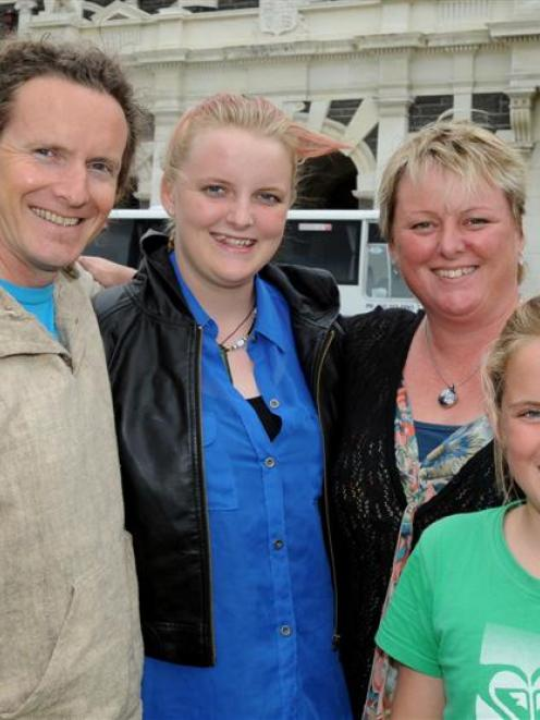 Former Dunedin residents Kenneth Fleck (39) and wife Kim (42) and daughters Jenna (13) and Shani ...