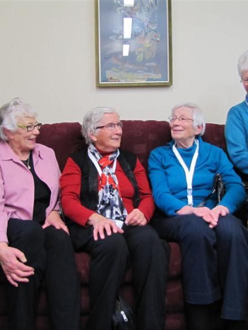 Former Dunstan Hospital nurses Jenny Saunders, of Dunedin, Helen Love, Rae Rowe, Beryl Smith and...