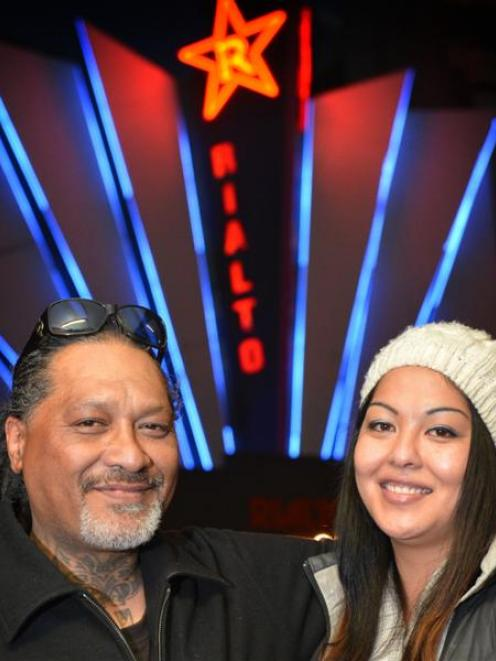 Former gang member and now  actor Wayne Hapi (48) and his daughter, Miracle Hapi (24), prepare...