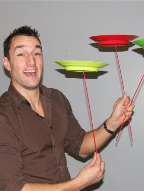 Former Gore man Corey Moir shows his circus training is still very much in use even though he now...