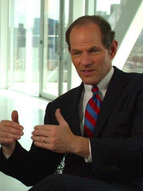 Former New York State attorney general Eliot Spitzer talks during the documentary.