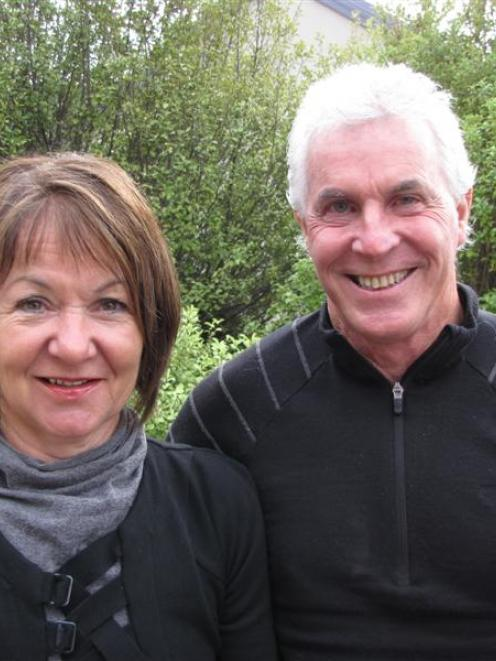 Former owners John and Jenny Milburn, in Wanaka yesterday. Photo by Lucy Ibbotson.