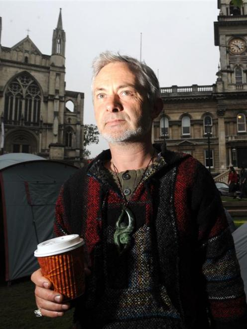 Former property investor Kieran Trass has thrown in his lot with the Occupy movement. Photo by...