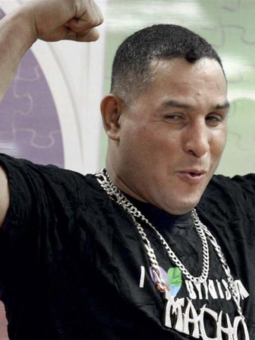 "Former Puerto Rican welterweight boxing champion Hector ""Macho"" Camacho is shown in this 2010..."