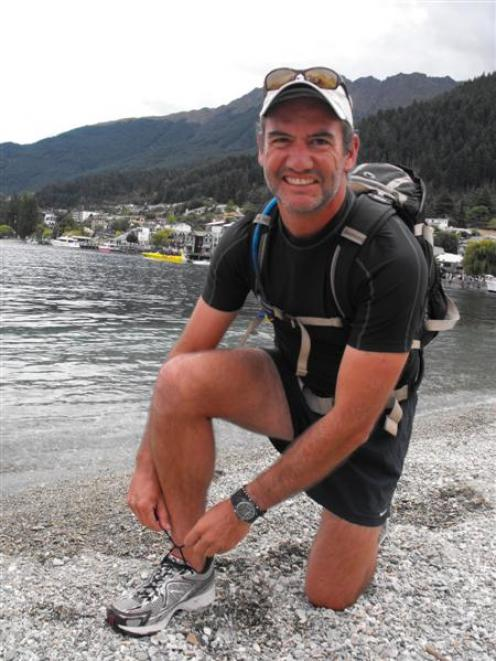 Former Queenstown resident Harald Ulriksen on the lakefront in March before his 3700km journey in...