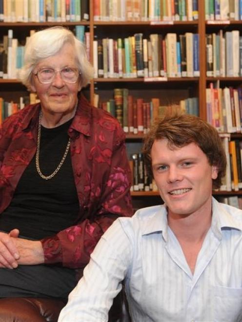 Former St Margaret's College Hall of Residence residents Ann Wylie (88) and Isaac Campbell (22)...