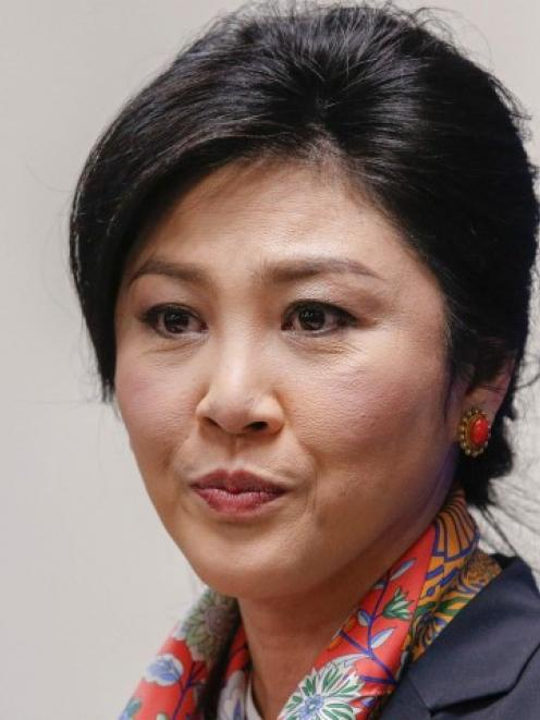 Former Thai prime minister Yingluck Shinawatra. Photo Reuters