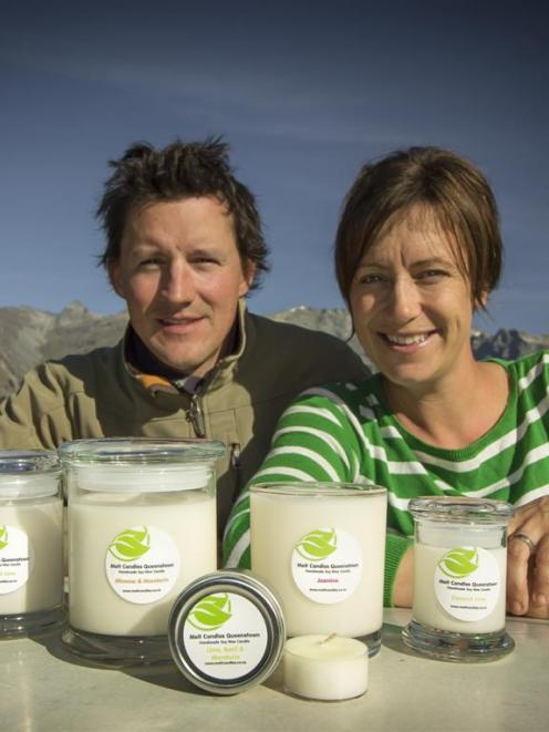 Former UK couple Per and Rachel Lindstrand now make candles at their Glenorchy home. Photo by...