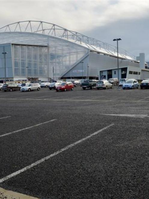 Forsyth Barr Stadium car park. Photo by Gerard O'Brien.