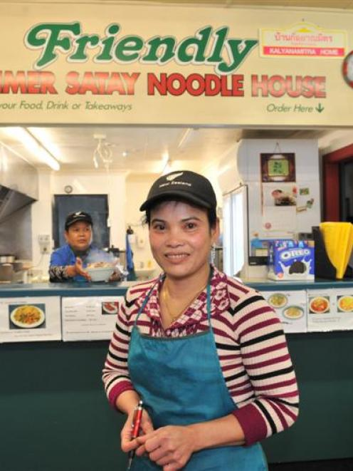 Friendly Khmer Satay Noodle House owner Kimleanng Ek in her Dunedin restaurant, which is part of...