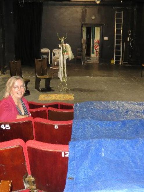 Friends of the Globe Theatre chairwoman Rosemary Beresford contemplates the theatre's seats,...