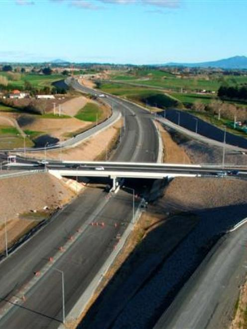 Fulton Hogan's New Zealand projects, such as the Waikato Expressway, (pictured) helped sustain...
