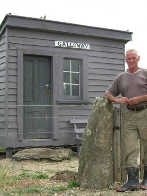 Galloway resident Aad van Leeuwen is developing an amenity area along the Otago Central Rail...