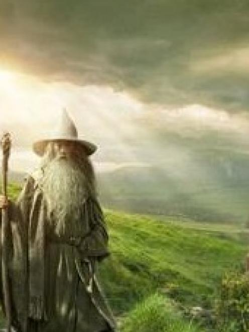 Gandalf walks through Middle Earth in the new Hobbit poster. Or is it Newcastle? Photo: supplied