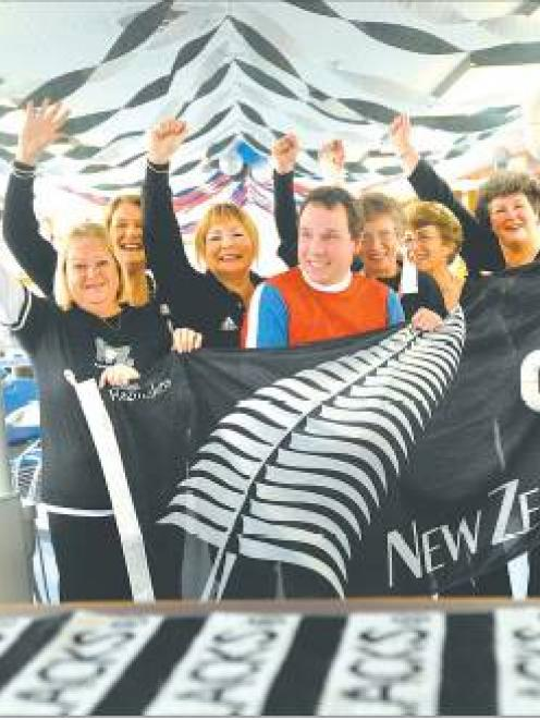Gearing up for the test are University of Otago Orthodontist Centre staff (from left) Sandy...