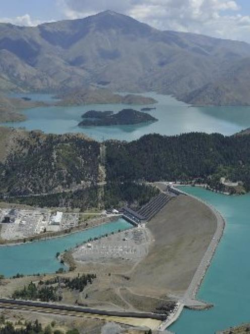 Generating lacklustre returns: Meridian Energy's Lake Benmore hydro-electric power station. Photo...