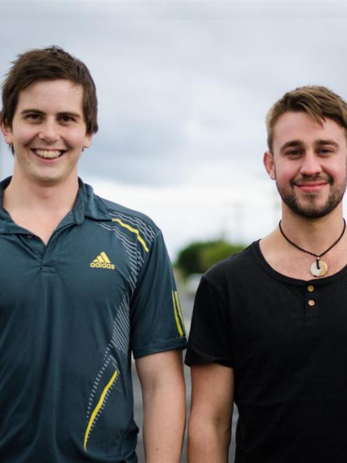 George Phillips (left) and Mike Neumegen from Dunedin-based start-up Cloud Cannon. Photo supplied.
