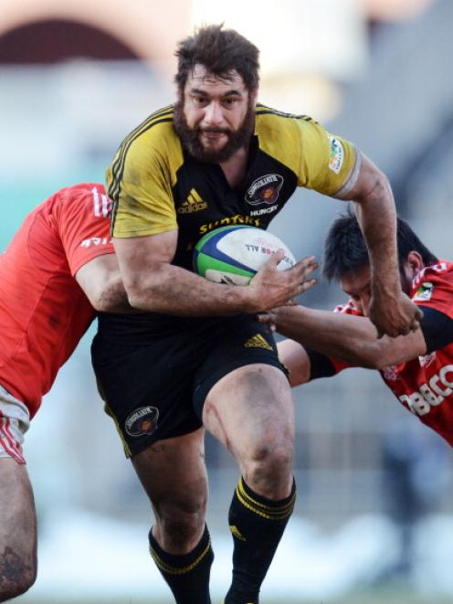 George Smith in action for Suntory Sungoliath against Kobelco Steelers in Tokyo in January. Photo...
