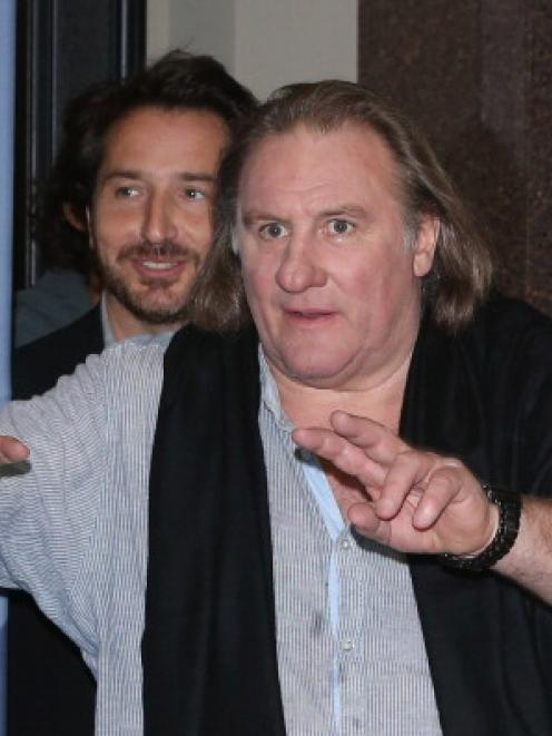 Gerard Depardieu fell off his scooter in Paris. (Photo by Andreas Rentz/Getty Images)
