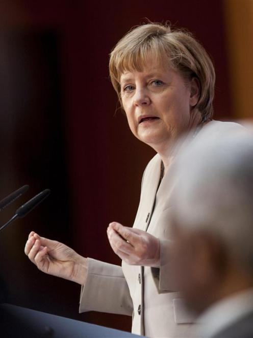 Germany's Chancellor Angela Merkel. REUTERS/Thomas Peter
