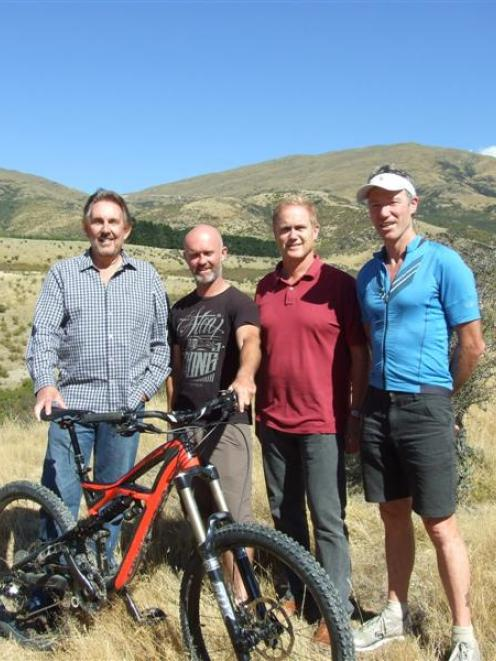 Gibbston Valley Winery owner Phil Griffith, trail designer and developer Ben Rafferty, Gibbston...