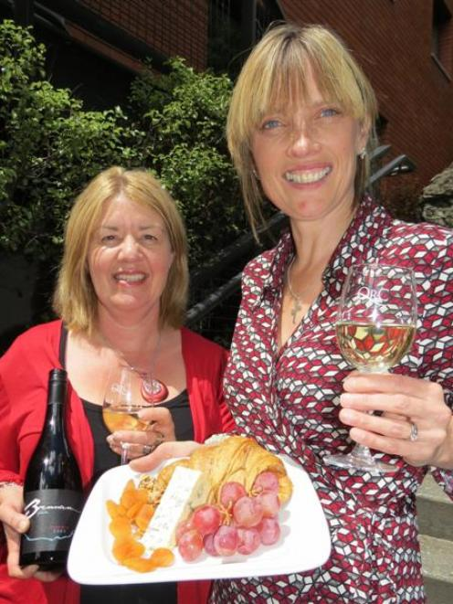 Gibbston Wine and Food Festival co-ordinator Julie Hughes (left) and Queenstown Resort College...