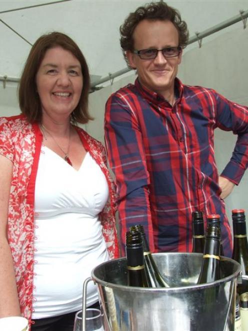 Gibbston Wine and Food Festival organiser Julie Hughes and Rockburn winemaker Malcolm Rees...