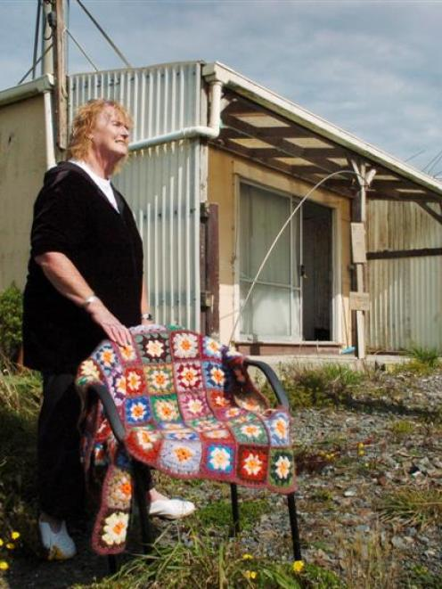 Glenys and Norman Woods at the house of the late Hone Tuwhare at Kaka Point. Photo by Gerard O...