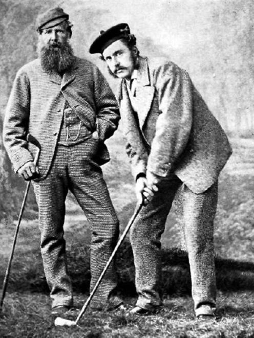 Golfing pioneers Old Tom Morris and Young Tom Morris about 1870-75. Photos by Gary Newkirk...