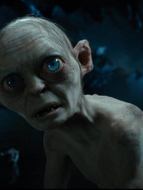 Gollum . . .  Helping lure precious visitors. REUTERS/Warner Bros