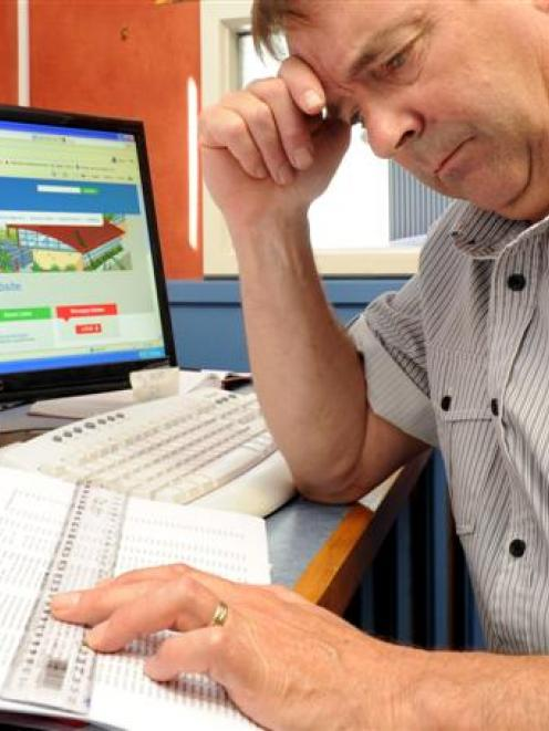 Green Island School principal Steve Hayward continues to work through Novopay problems during his...