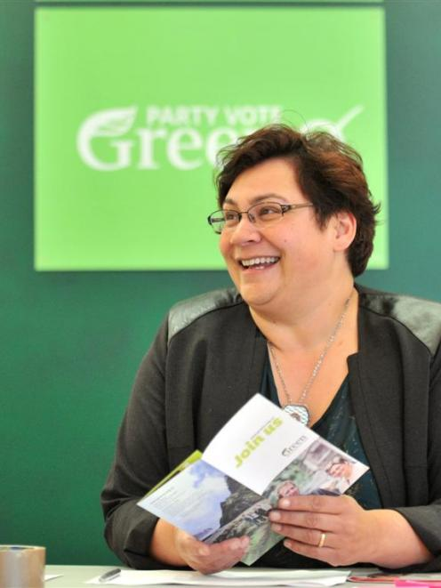 Green Party co-leader Metiria Turei in Dunedin on Friday. Photo by Linda Robertson.