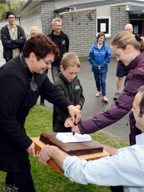 Green Party co-leader Metiria Turei (left), Roslyn McLean (11), James Marshall (8) and Blueskin...