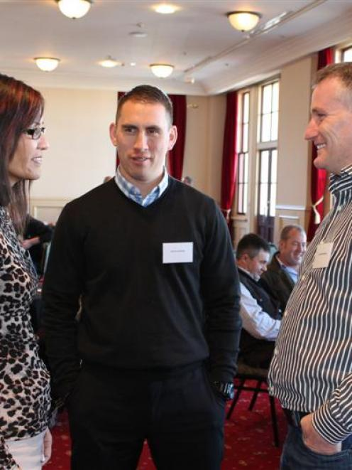Guest speakers Marsella and Wiremu Edmonds, of Rotorua, and Dr Kyle McWilliams (right), of...