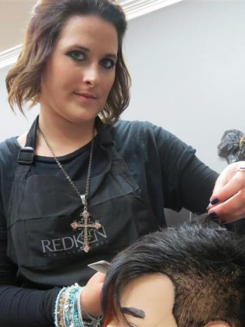 Hair Co senior stylist Lyndsey Meyer came first in the Dunedin World Skills competition.  Photo...