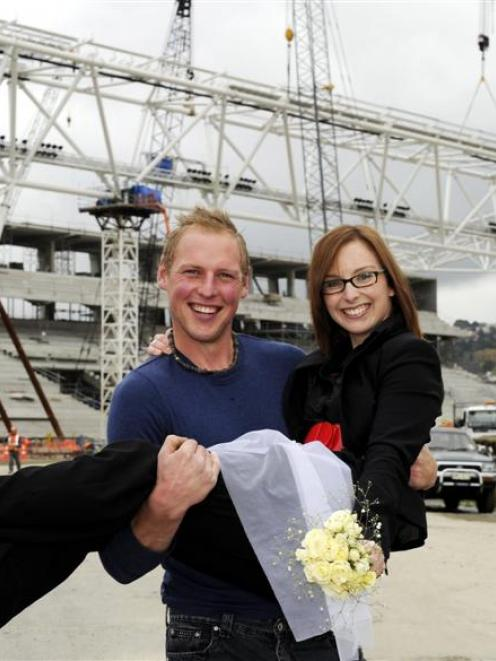 Haley Paterson and Johnny Van Leeuwen, of Dunedin, plan to tie the knot at Forsyth Barr Stadium,...