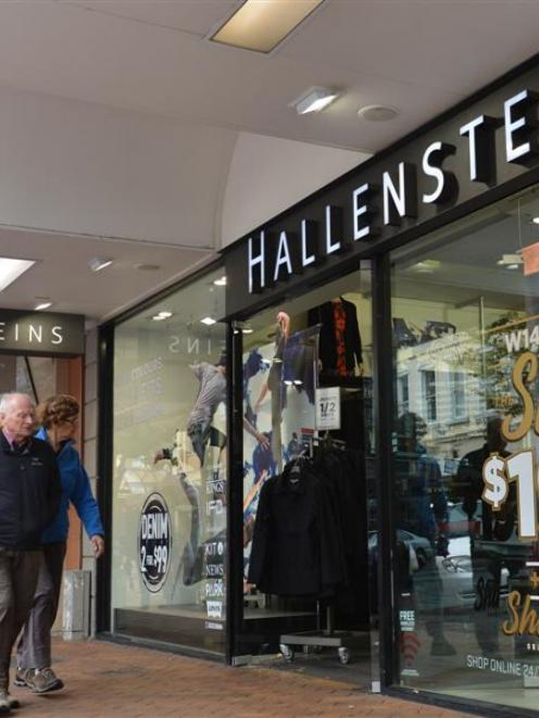 Hallenstein Glasson (pictured, its Hallensteins Dunedin shop) is looking to winter sales for an...