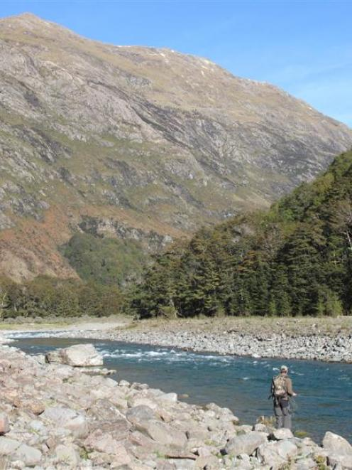 Hamish Carnachan, of Carterton, enjoys a day on Otago's Greenstone River. Photo supplied.