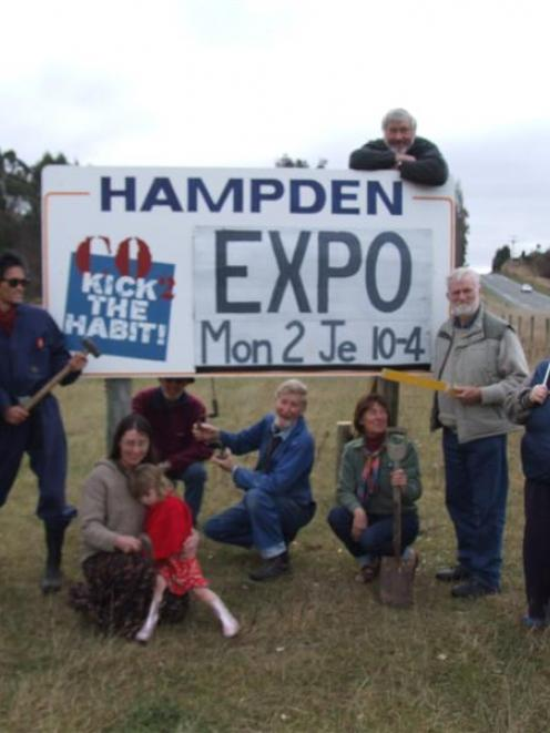 Hampden Energy Expo team members are ready for the Hampden Energy Expo on Monday.