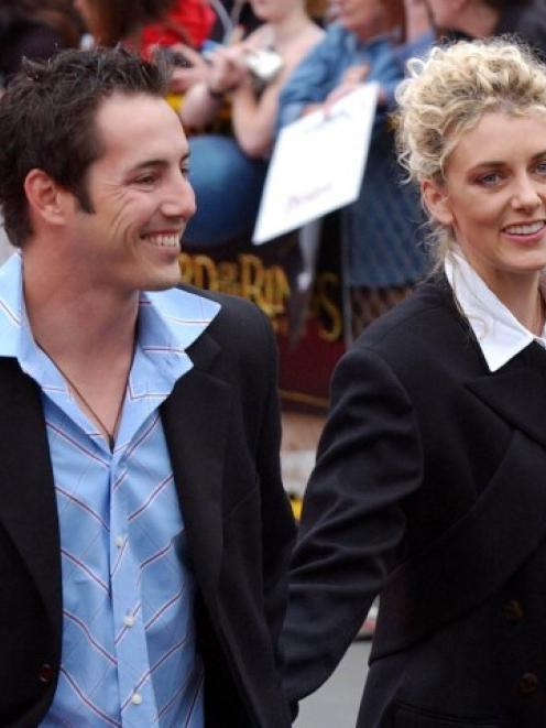 Happier times . . . Adam Parore and Sally Ridge