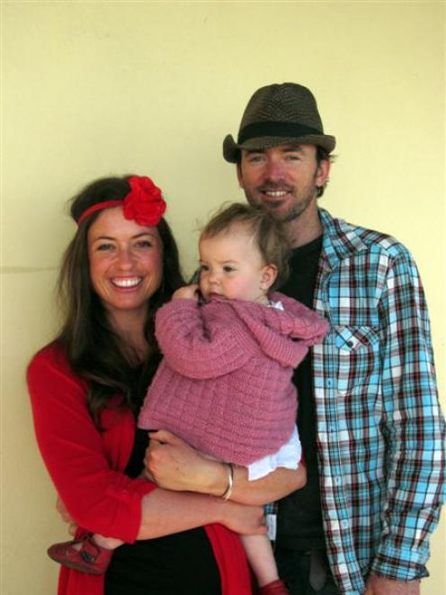 Hawea singer-songwriter Anna van Riel, together with her husband Locky Urquhart and their baby...