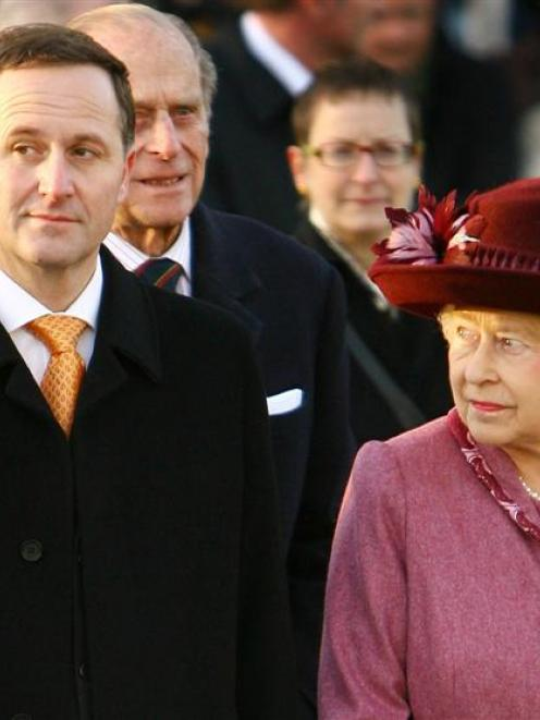 "The Queen with Prime Minister John Key in London last year. Being PM is ""real cool"", he recently..."